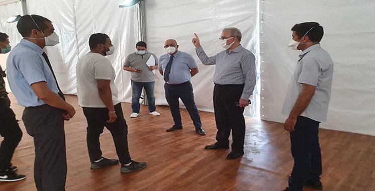 Marrakech - Prise en charge des cas Covid :  L'aménagement du chapiteau dédié avance bien