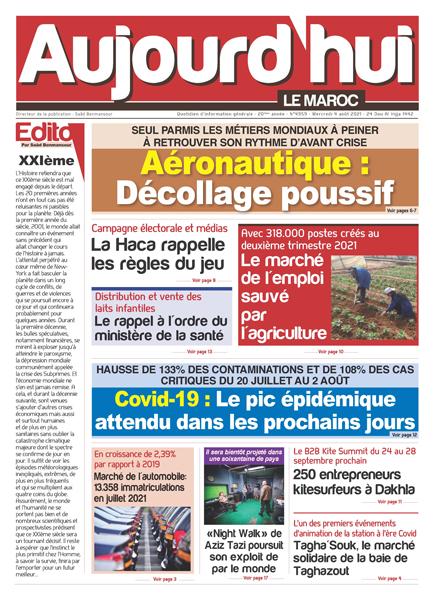 Journal Électronique du mercredi 4 août 2021