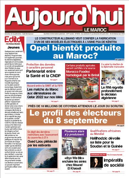 Journal Électronique du Vendredi 27 août 2021