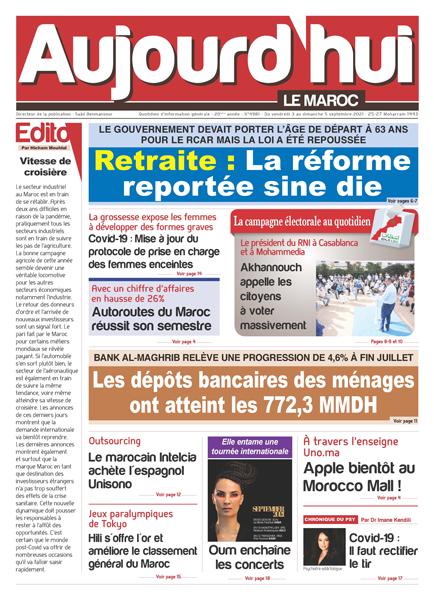 Journal électronique du vendredi 3 au dimanche 5 septembre 2021