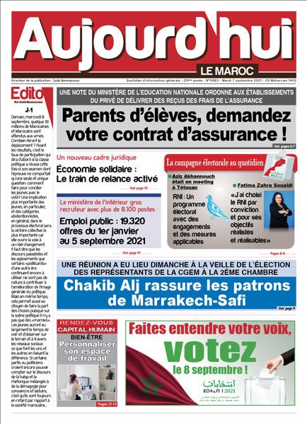 Journal Électronique du Mardi 7 Septembre