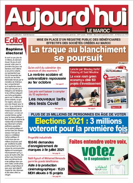 Journal Électronique du Mercredi 8 Septembre 2021