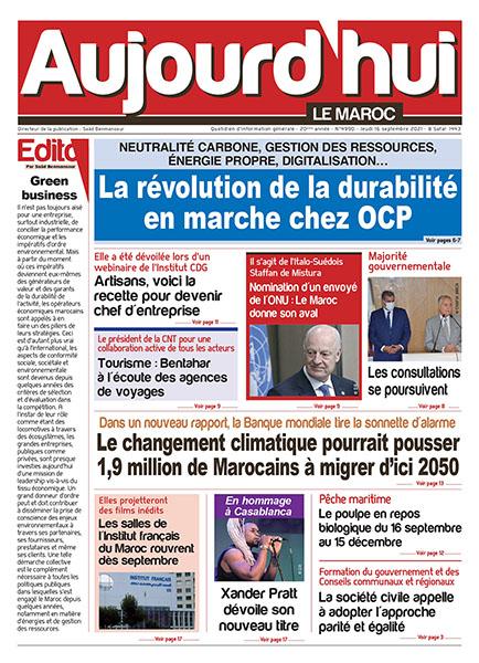 Journal électronique du jeudi 16 septembre 2021
