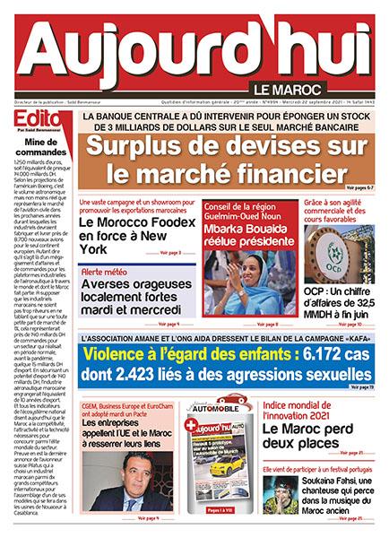 Journal électronique du Mercredi 22 septembre 2021
