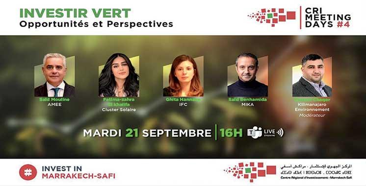 Compétitivité et éco-responsabilité : Le CRI Marrakech-Safi promeut l'investissement vert