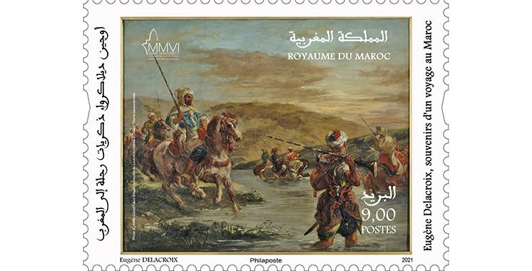 Barid Al-Maghrib et FNM émettent un timbre-poste à l'occasion de l'exposition «Delacroix»