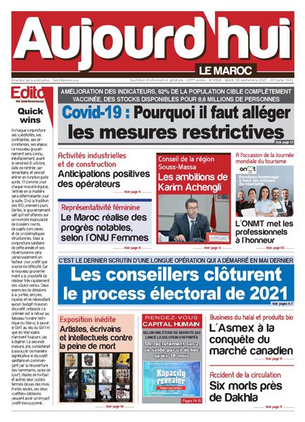 Journal électronique du Mardi 28 septembre 2021