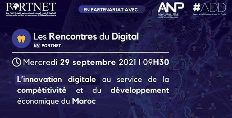 Innovation et compétitivité : Les Rencontres du digital by PortNet, le 29 septembre