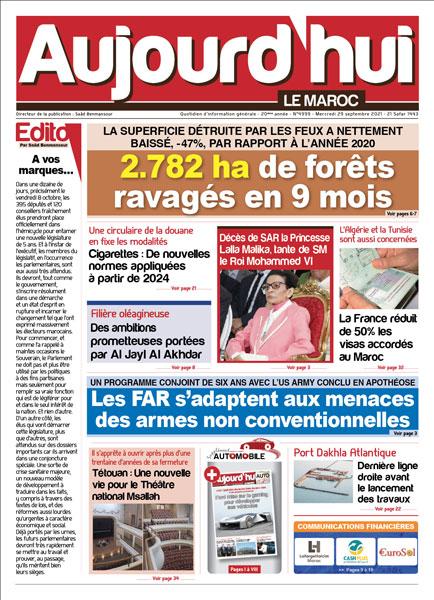 Journal électronique du Mercredi 29 septembre 2021