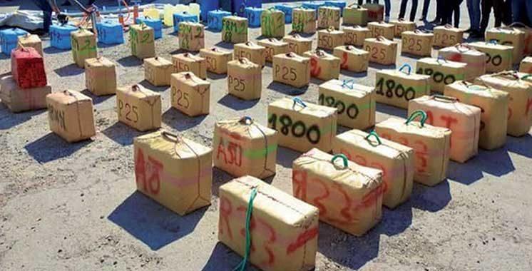 Sept personnes interpellées : Saisie de 2 tonnes de chira à Agadir