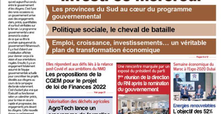 Journal électronique du Mercredi 13 Octobre 2021