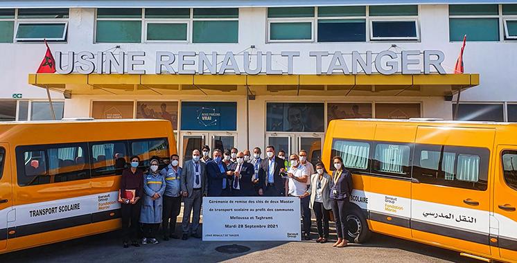 Fahs Anjra : La Fondation Renault Maroc fait don de deux nouveaux bus scolaires