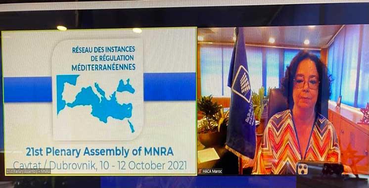 Akharbach à la 21ème assemblée plénière du RIRM : Médias audiovisuels régulés, une source d'information fiable et de proximité en temps de Covid