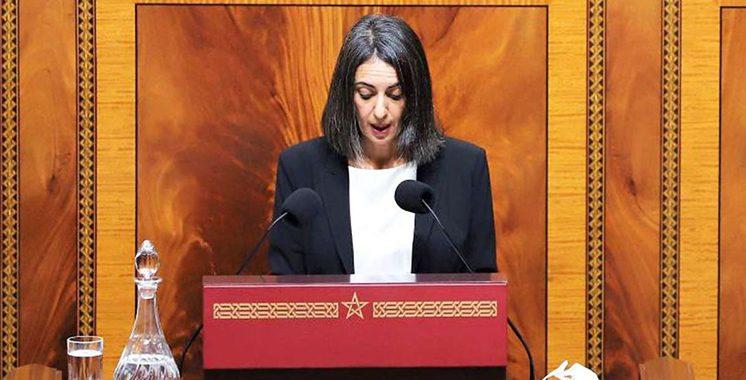 Après son passage au Parlement : Nadia Fettah Alaoui  assume sa  responsabilité et défend une vision globale