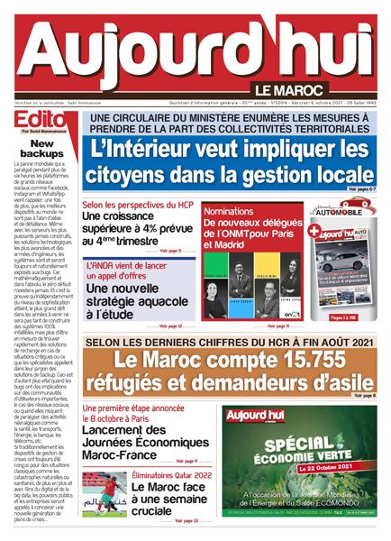 Journal électronique du Mercredi 6 Octobre 2021