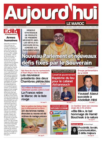 Journal électronique du Lundi 11 Octobre 2021