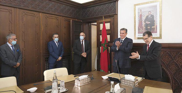 Passation-de-pouvoirs-entre-M.-Saad-Dine-El-Otmani-et-le-nouveau-Chef-du-gouvernement-M.-Aziz-Akhannouch-1