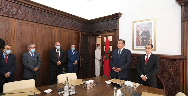 Passation-de-pouvoirs-entre-M.-Saad-Dine-El-Otmani-et-le-nouveau-Chef-du-gouvernement-M.-Aziz-Akhannouch-2