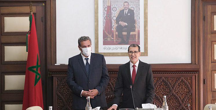 Passation-de-pouvoirs-entre-M.-Saad-Dine-El-Otmani-et-le-nouveau-Chef-du-gouvernement-M.-Aziz-Akhannouch-3